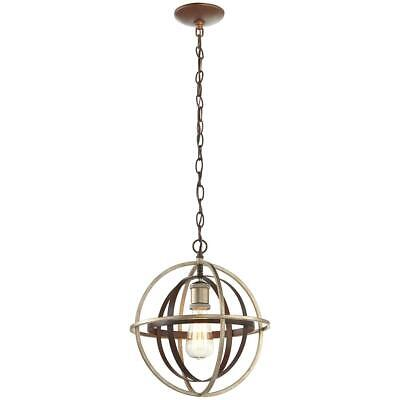Home Decorators Collection 1-Light Bronze and Champagne Pewter Orb Mini Pendant Collection Pendant Lighting