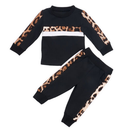 Newborn Toddler Kids Baby Girl Outfits Sports Tops  Pants Tracksuit Clothes Set