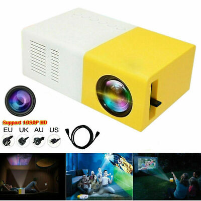 Portable Rechargeable Pocket Mini LED Projector 3D HD 1080P Home Cinema HDMI US