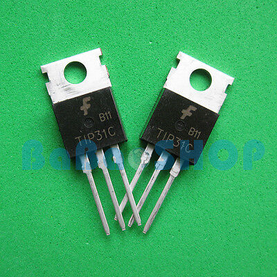 10pairs 10pcs Tip31c 10pcs Tip32c Npn Pnp 3a Transistor To-220 Fsc