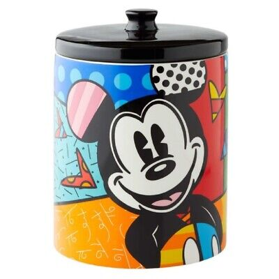Romero Britto Mickey Mouse Cookie Jar 6004975 New