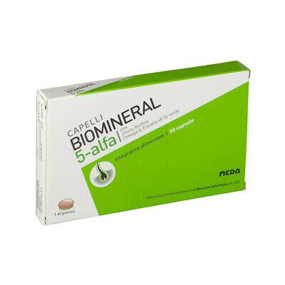 BIOMINERAL 5 ALFA 30 CPS INTEGRATORE ALIMENTARE PER CALVIZIE NUTRE CAPELLI CUTE
