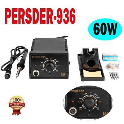 936 110v Esd Smd Rework Iron Soldering Station Welder W Wire Stand Sponge Tips