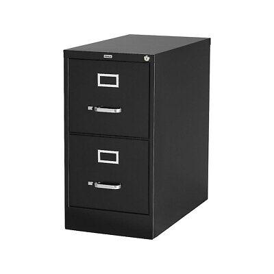 Staples 2-drawer Vertical File Cabinet Locking Letter Black 25d 25157d 85988
