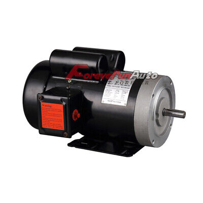 New 2 Hp Electric Motor 56c Single Phase Tefc 115230 Volt 3450 Rpm
