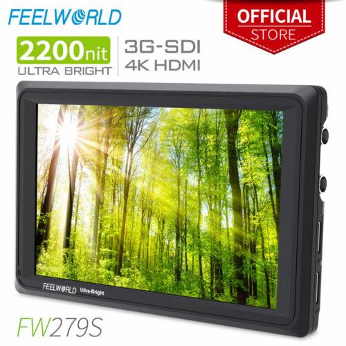 FEELWORLD FW279S 7 Inch High Brightness 2200nit DSLR Camera Field Monitor 3G SDI