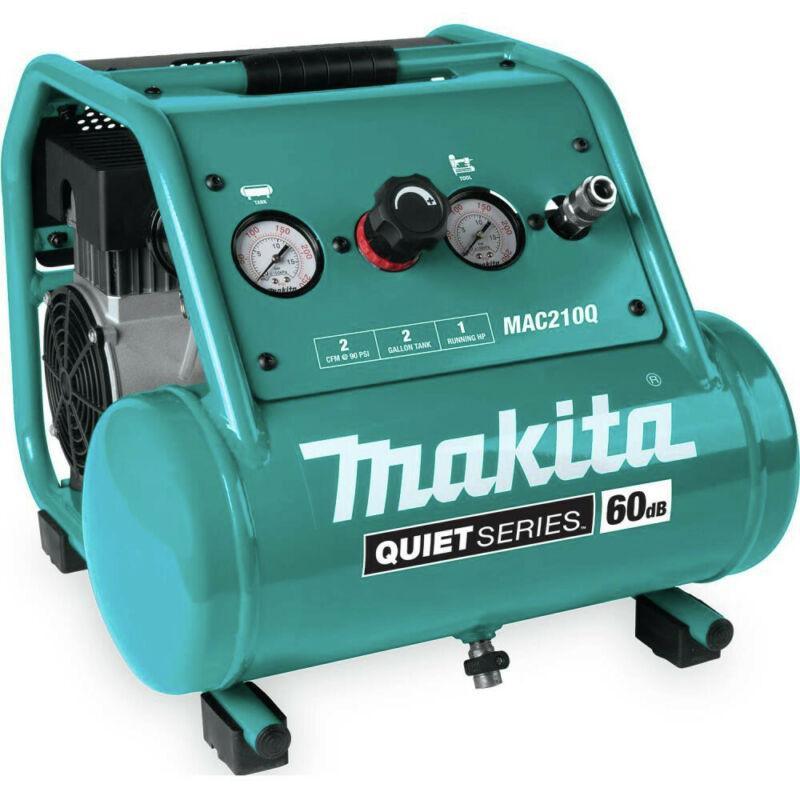 Makita MAC210Q-R Quiet Series 1 HP 2 Gallon Air Compressor Certified Refurbished