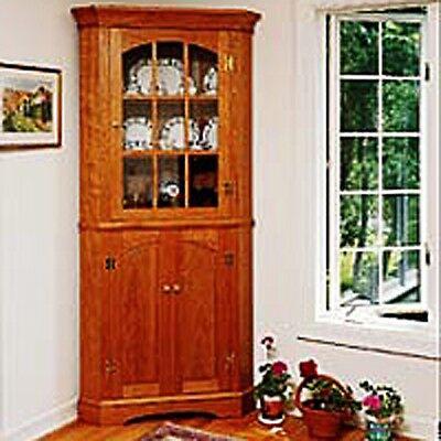 Traditional Corner Cabinet Plan - Media   Woodworking Plans   Indoor Project ...