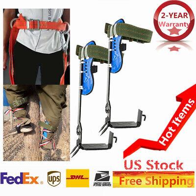 Treepole Climbing Spike Safety Belt Straps Adj. Lanyard Rope Rescue Us Stock