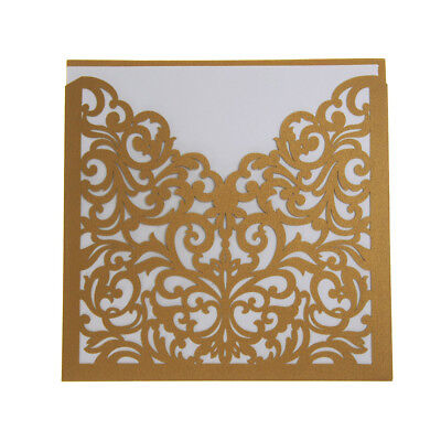 Blank Invitations - Blank Invitations Laser Cut Design, 5-3/4-Inch, 8-Count