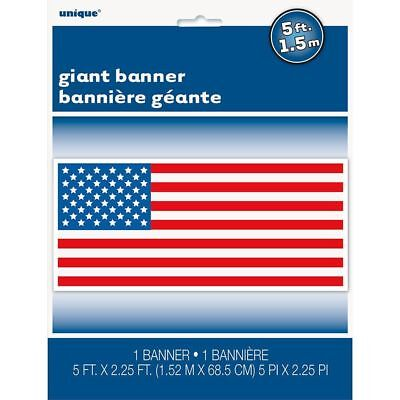 PATRIOTIC FLAG BANNER 4TH OF JULY Party Wall Decoration BBQ American USA SIGN](July 4th Decorations)