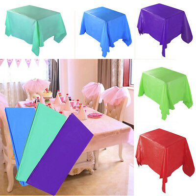 Large Plastic Rectangle Table Cover Cloth Wipe Clean Party Tablecloth Covers - Plastic Table Covers Clear