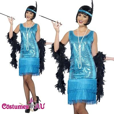 Ladies 1920s Roaring 20s Flapper Costume Charleston Gatsby Outfit Fancy Dress Up - Roaring 20 Outfits