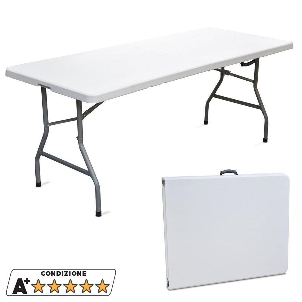 Evergreen tavolo in resina richiudibile a valigia pieghevole picnic EG45065
