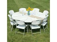 5ft ROUND/RECTANGULAR Tables and Chairs For HIRE 07535100529