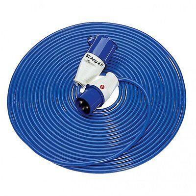 14 M Metre 32 Amp 230 Volt 2.5mm Extension Power Arctic Cable Lead 240 V E85237
