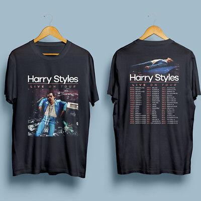 Harry Styles Tour 2018 Mens Gildan Black T Shirt S Xxl