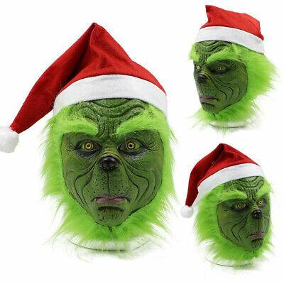 Die Grinch Cosplay Maske Kostüm Weihnachten Halloween Party - Grinch Kostüme Maske