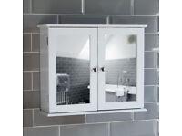 Bath Vida 2 Door Mirrored Cabinet.