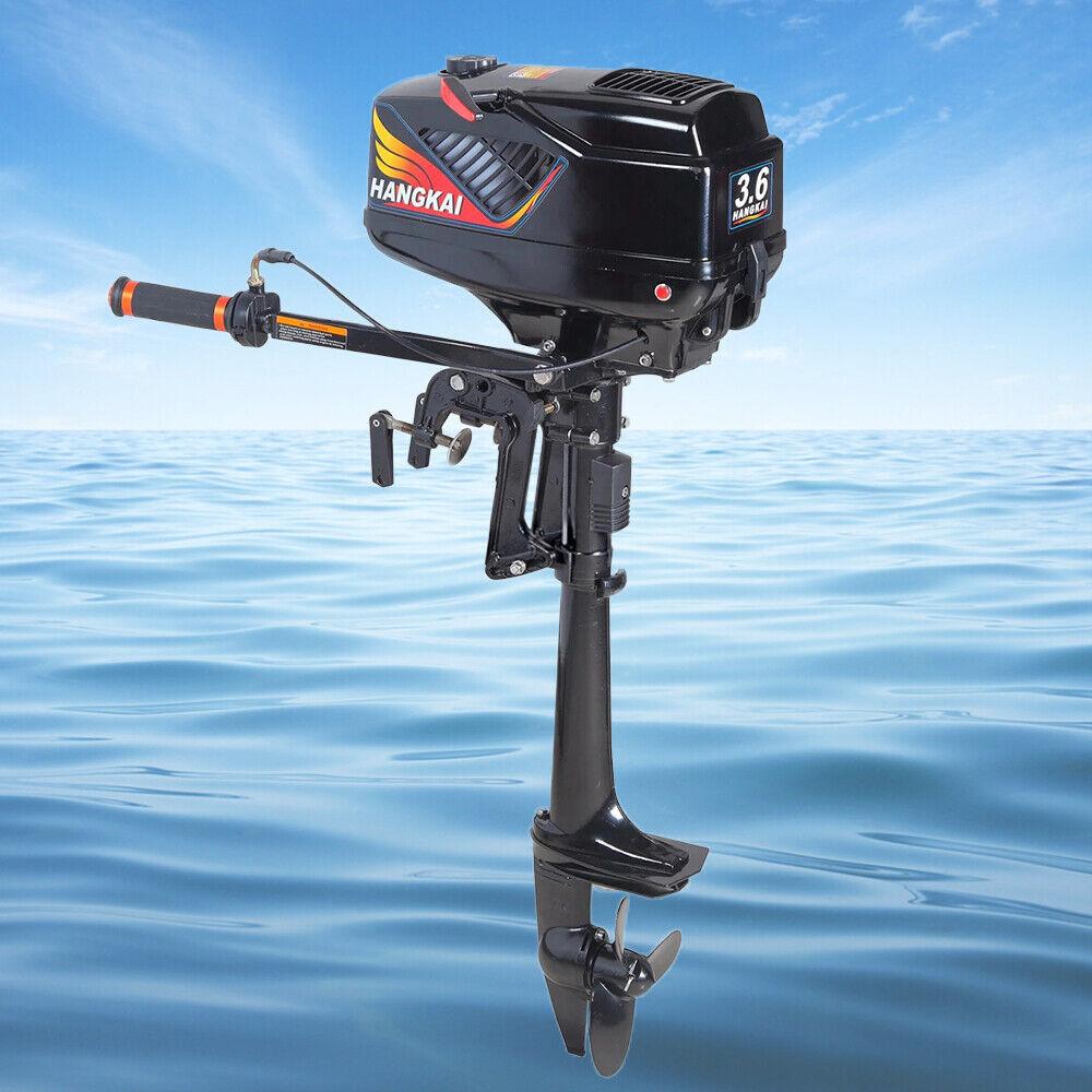 3.6HP Heavy Duty Outboard Motor Boat Engine 2 Stroke w// Water Cooling CDI System
