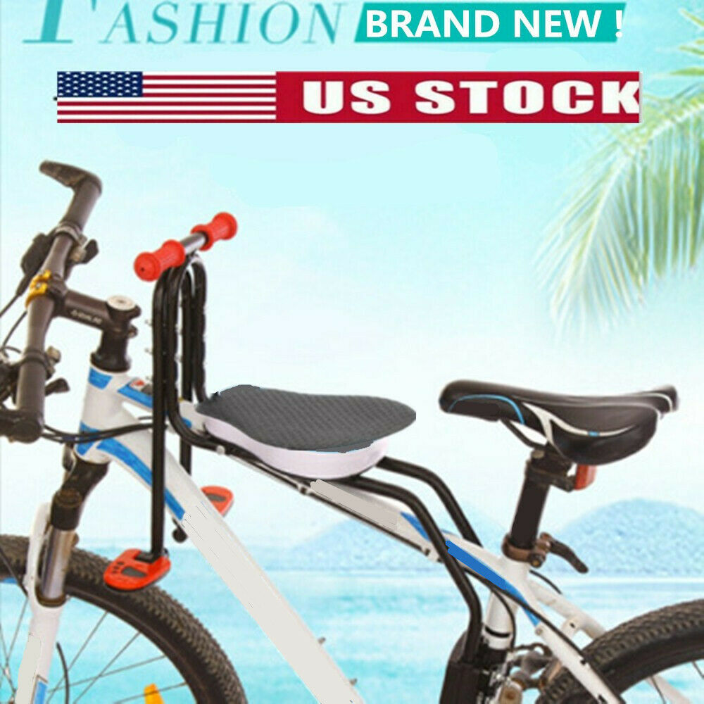 Kids Bicycle Chair Baby Bike Safety Seats Toddler Child Seat w// Foot Pedal