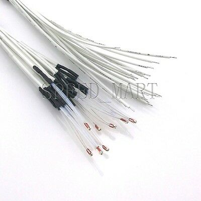 10 X 100k Ohm 3950 1 Ntc Thermistor With 1m Cable For 3d Printer Reprap Hot End