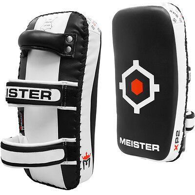 MEISTER XP2 PROFESSIONAL THAI PADS - X-THICK LEATHER Kick Muay Focus Mitts PAIR ()