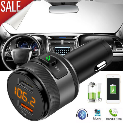 FM Transmitter For Car Bluetooth Adapter Wireless An USB Radio QC3.0 Car Charger