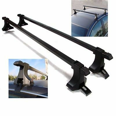 """Black Top Luggage Kayak Cargo Cross Bars Roof Rack Carrier 48"""" SUV Pair Car"""