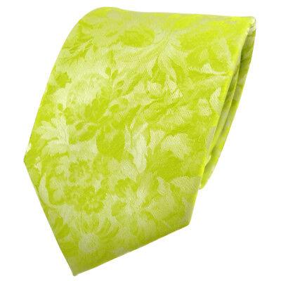 Designer Krawatte grün gelb neongrün neongelb gemustert - Schlips Binder Tie