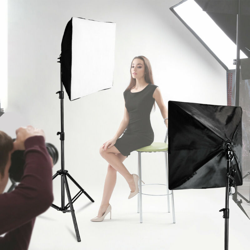 "24"" Softbox Photo Studio Photography Lighting Kit Light Stand Set US SELLER"