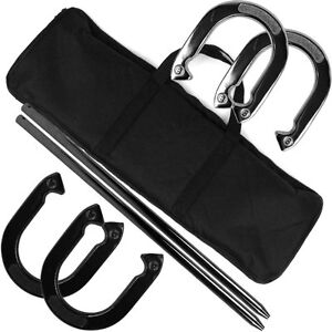 Professional-Horseshoe-Set-with-Carrying-Case-Heavy-Duty-By-Trademark-Games