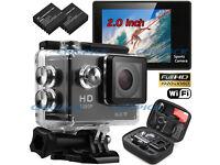 "Waterproof WIFI SJ4000 Sports Camera Travel Kit Actio DV 1080P Full HD 2"" inch Screen High Quality"