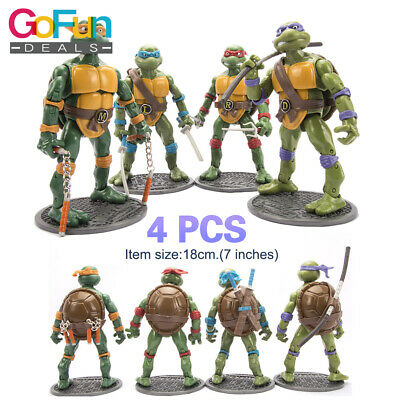 Neu 4 stück teenage mutant ninja turtles spielzeug action-figuren modell set
