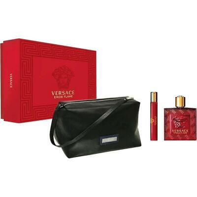 Versace Eros Flame 100ml EDP + 10ml EDP + Pouch Gift Set Authentic & Brand New