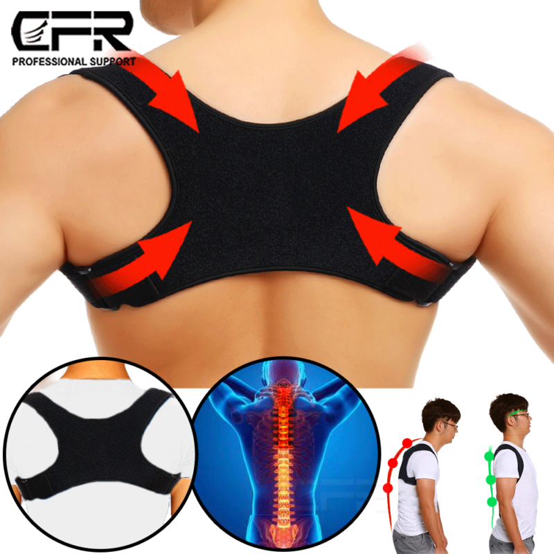 Posture Corrector Men Women Upper Back Brace Clavicle Suppor