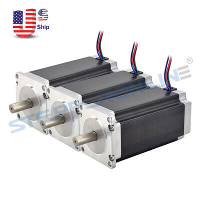 3pcs Nema 23 Stepper Motor 3nm425oz.in 4.2a 10mm Shaft Cnc Mill Lathe Router