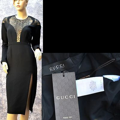 GUCCI New sz 4 - 40 Authentic Sexy Black Cocktail Party Evening Designer Dress