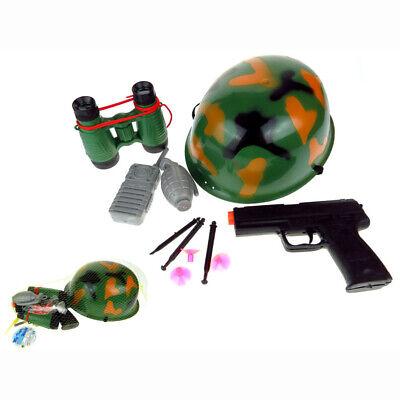 t 8 tlg Soldat Militär Army Kostüm Fasching Karneval (Kinder Spielzeug Soldat Kostüm)