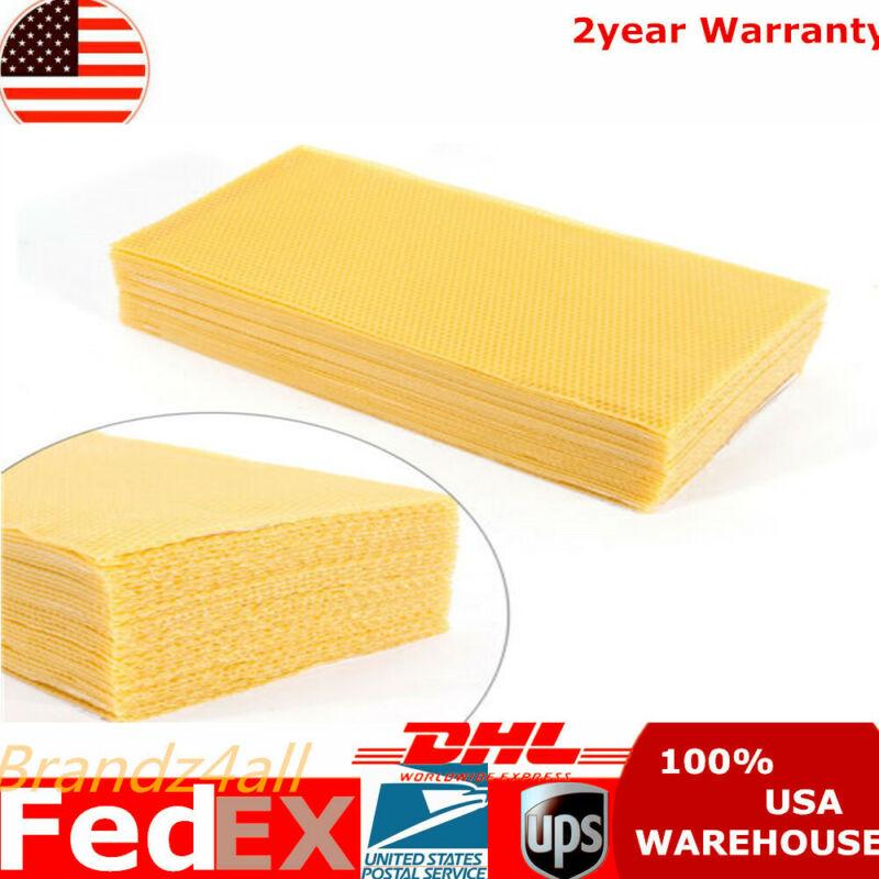 30x Honeycomb Foundation Beehive Wax Frames Waxing Beekeeping Equipment Bee US