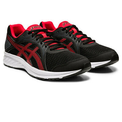 Asics Mens Jolt 2 Running Shoes Trainers Sneakers - Black Red Sports Breathable
