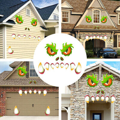 Halloween Party Garage Door Stickers Outdoor Scary Wall Decals Decor Wall Papers