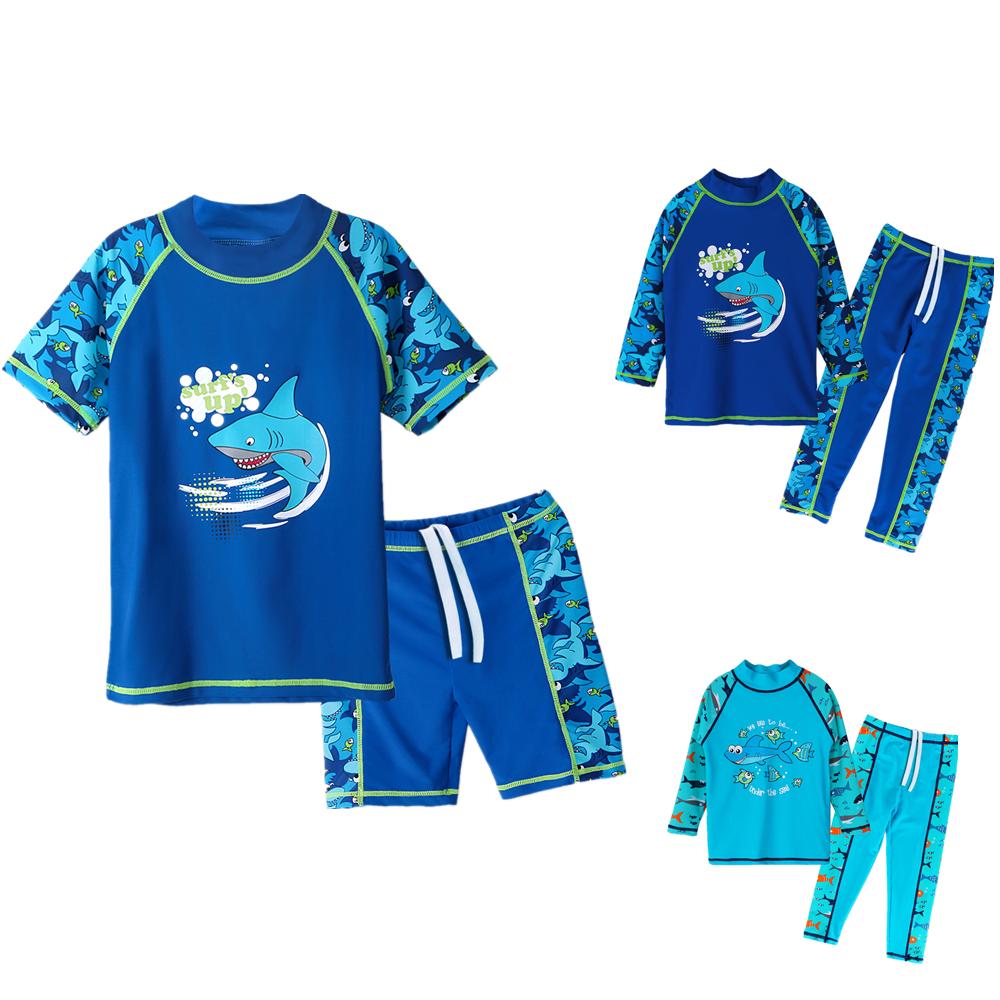 Jungen Kinder Badeanzug UV Schutz 50+ Bademode Sonnenschutz Badebekleidung 2TLG