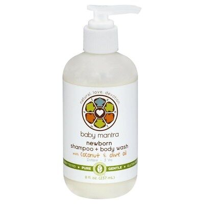 Baby Mantra Newborn Shampoo Body Wash Coconut Olive Oil Pure Natural (Pure & Natural Coconut Body Wash)