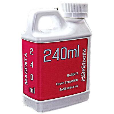 Dye Sublimation Ink Magenta 240ml For Epson Wf-7210 Wf-7710 Wf-7720 - Non - Oem