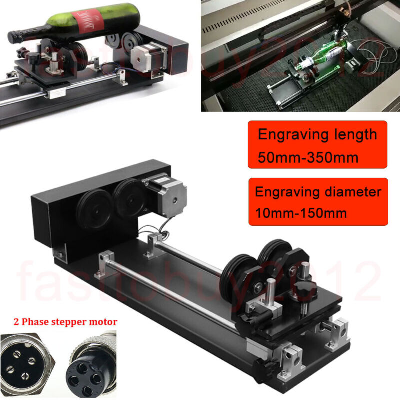 CNC Rotary Roller Rotation Axis 2PH Motor Laser Engraver Machine Rotation Axis