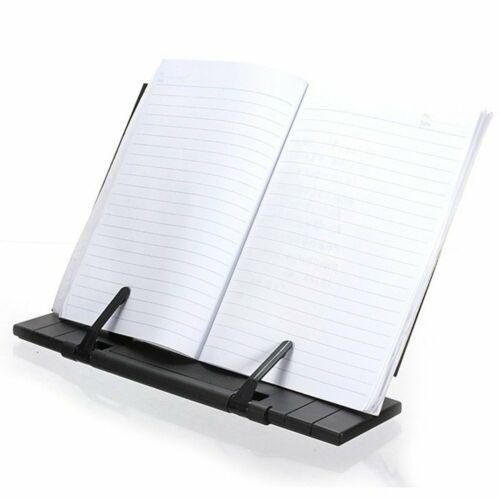 Book Stand Cookbook Holder For Desk Reading Rest Textbook Display Rack Metal New