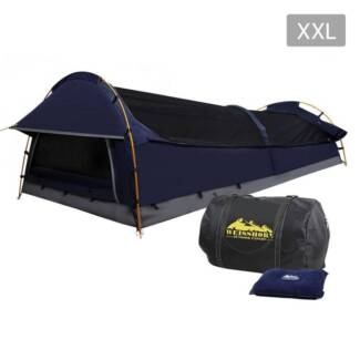 AUS FREE DEL-Compact Deluxe King Single Swag Camping Swag Navy
