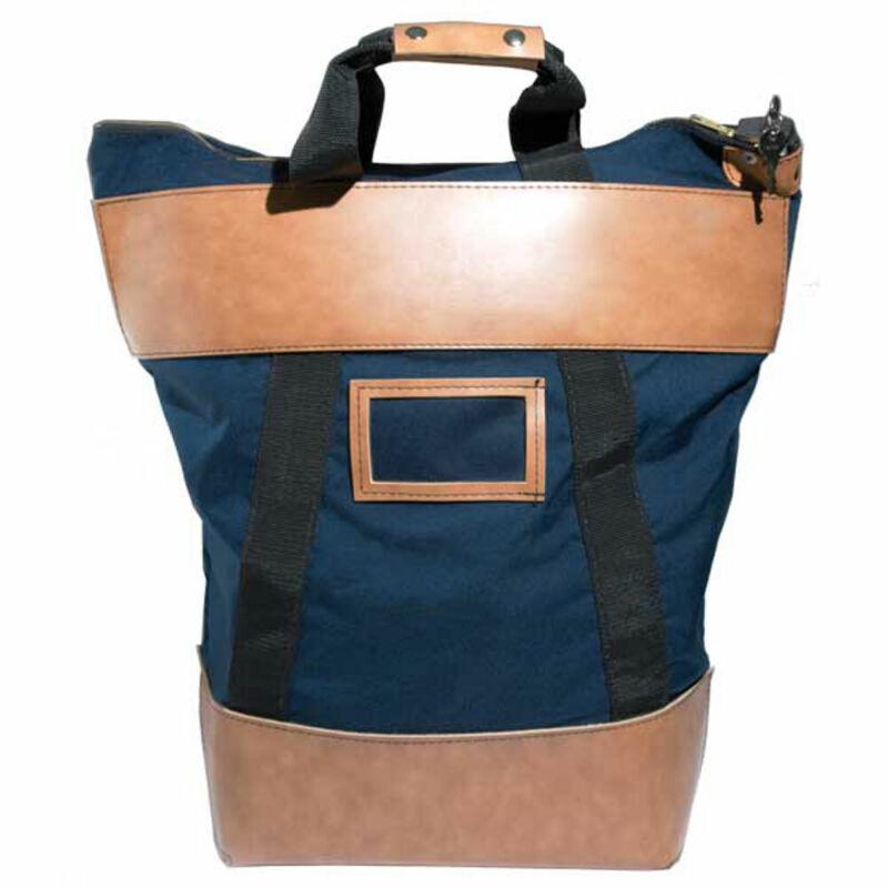 15W x 16H x 7D - Locking Courier Bag - Navy Blue - Stock