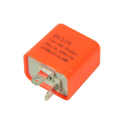 2-Pin 12V Electronic LED Flasher Relay Fix Turn Signal Bulbs Hyper Flash Issue